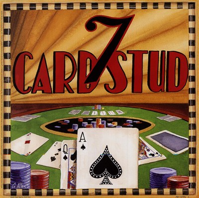 Seven Card Stud Poster by Geoff Allen for $13.75 CAD