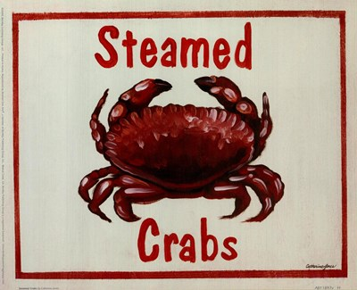Steamed Crabs Poster by Catherine Jones for $16.25 CAD