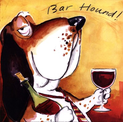 Bar Hound Poster by Tracy Flickinger for $18.75 CAD