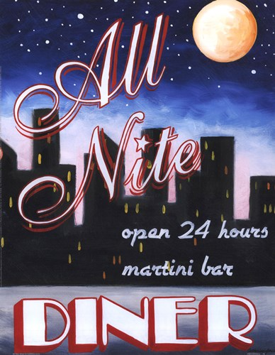 All Nite Diner Poster by Catherine Jones for $15.00 CAD