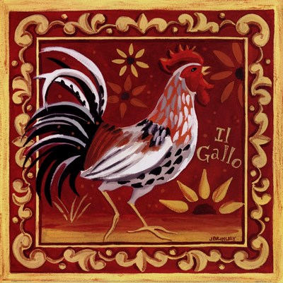 Il Gallo I Poster by Jennifer Brinley for $15.00 CAD