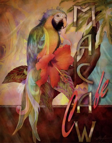 Macaw Cafe Poster by Alma Lee for $15.00 CAD