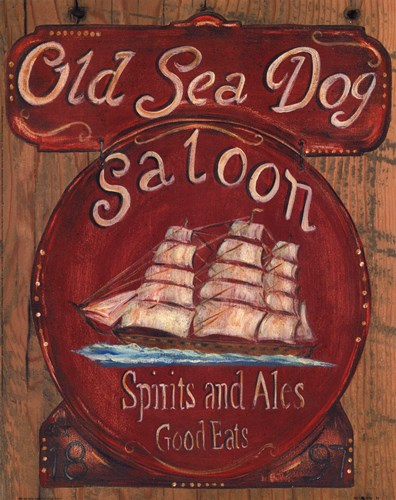 Old Sea Dog Saloon Poster by Grace Pullen for $15.00 CAD