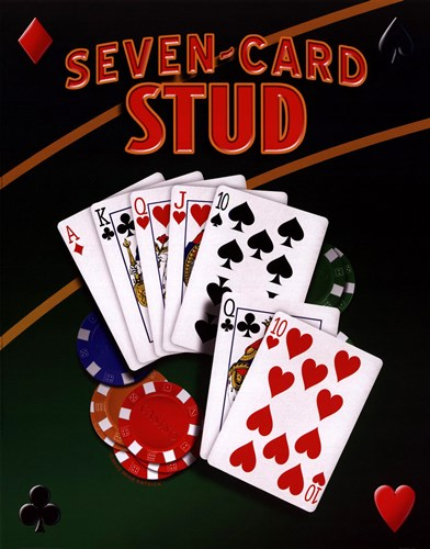Seven Card Stud Poster by Unknown for $15.00 CAD