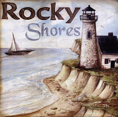 Rocky Shores Poster by Kate McRostie for $15.00 CAD