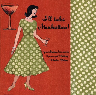 Manhattan Lady Poster by Lisa Ven Vertloh for $15.00 CAD