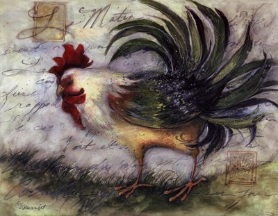 Le Rooster IV Poster by Susan Winget for $18.75 CAD