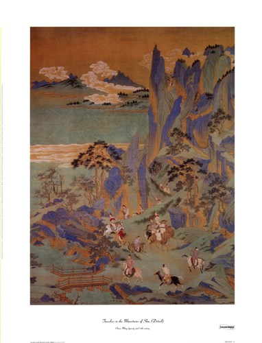 Travellers In The Mountains Of Shu Poster by Unknown for $18.75 CAD