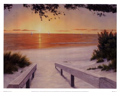 Evening Sunset Poster by Diane Romanello for $21.25 CAD