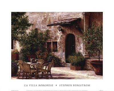 La Villa Borghese Poster by Stephen Bergstrom for $21.25 CAD
