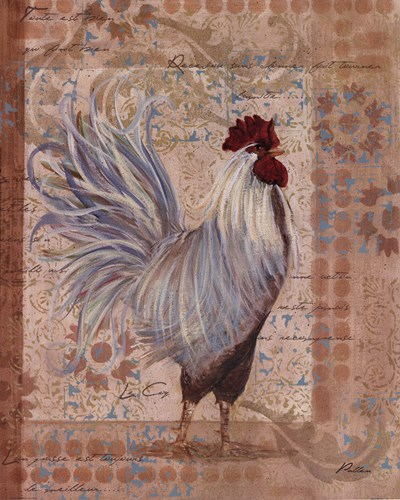 Provence Rooster Poster by Grace Pullen for $18.75 CAD