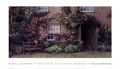 Beatrix Potter's Bench Poster by Paul Landry for $35.00 CAD