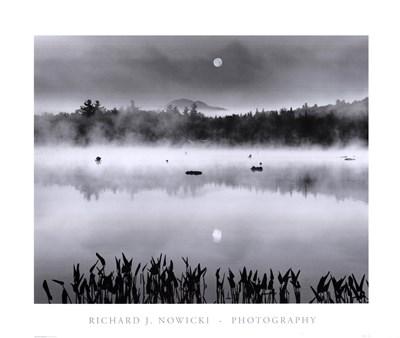 Lake Flower Moonset Poster by Richard Nowicki for $35.00 CAD