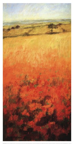Field With Poppies Poster by Ken Hildrew for $35.00 CAD