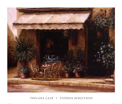 Toscana Cafe Poster by Stephen Bergstrom for $47.50 CAD