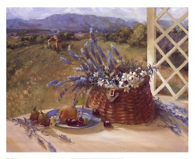 Lavender Basket Poster by Ruth Baderian for $47.50 CAD