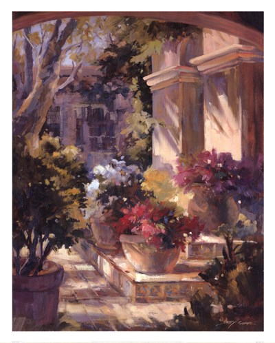 Flowered Courtyard Poster by Betty Carr for $47.50 CAD