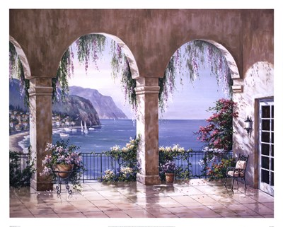 Mediterranean Arch Poster by Sung Kim for $47.50 CAD