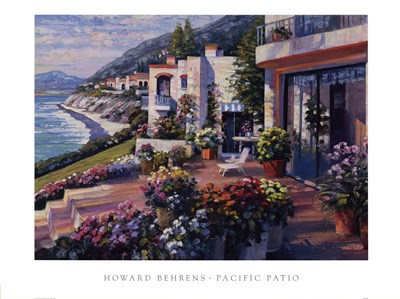 Pacific Patio Poster by Howard Behrens for $47.50 CAD