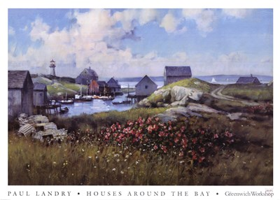 Houses Around The Bay Poster by Paul Landry for $53.75 CAD