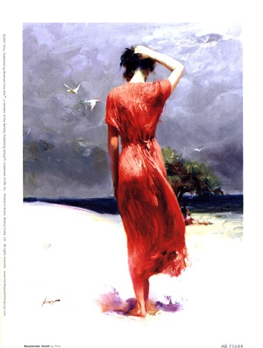 Beachside Stroll Poster by Pino Daeni for $10.00 CAD
