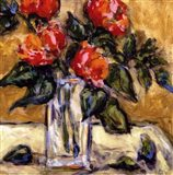 Vase Of Red Peonies