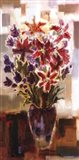Lilies in Purple Vase