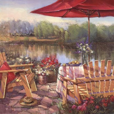 Summer Patio Poster by Paul Mathenia for $40.00 CAD
