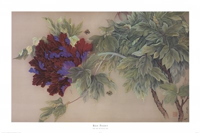 Red Peony Poster by Su Yue Lee for $46.25 CAD