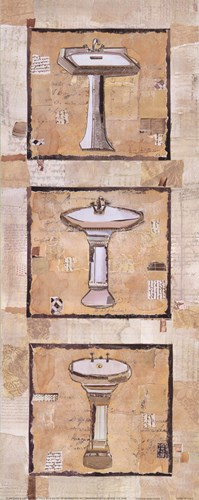 Vintage Sinks I Poster by Kate and Liz Pope for $13.75 CAD