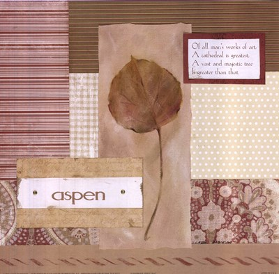 Scrapbook Aspen Leaf Poster by Carol Robinson for $13.75 CAD