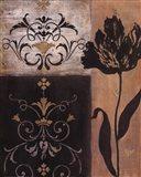 Tulip Silhouette - black flower