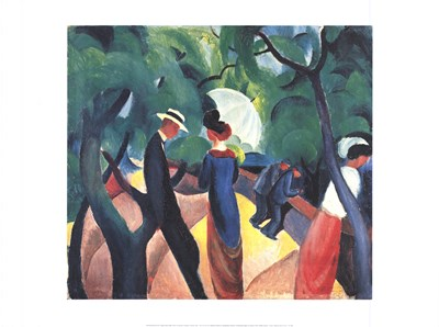 Promenade Poster by August Macke for $18.75 CAD