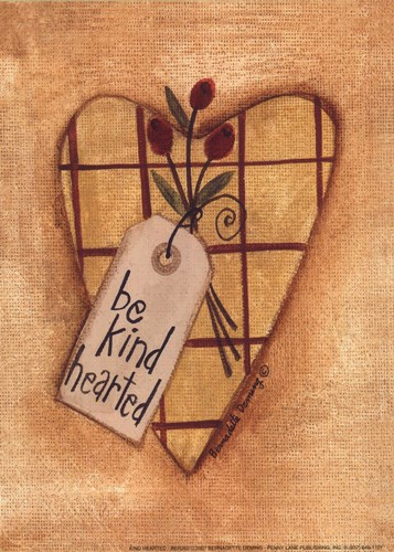 Kind Hearted Poster by Bernadette Deming for $8.75 CAD