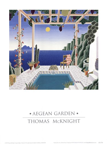 Aegean Garden Poster by Thomas McKnight for $22.50 CAD