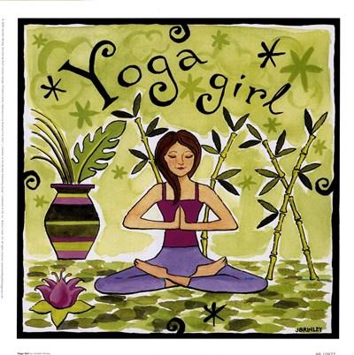 Yoga Girl Poster by Jennifer Brinley for $20.00 CAD