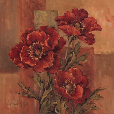 Poppies Terra Cotta Poster by Barbara Mock for $21.25 CAD