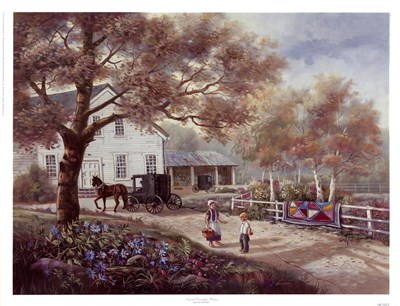 Amish Country Home Poster by Carl Valente for $35.00 CAD