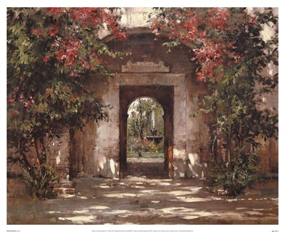 Flowered Doorway Poster by Cyrus Afsary for $46.25 CAD