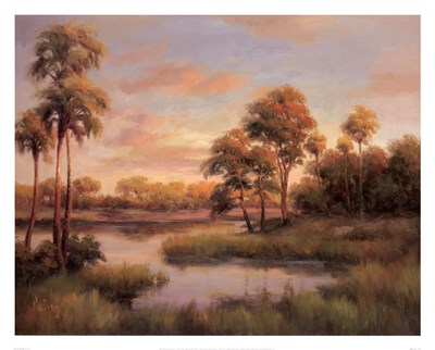 River Cove With Palms II Poster by R Rutley for $58.75 CAD
