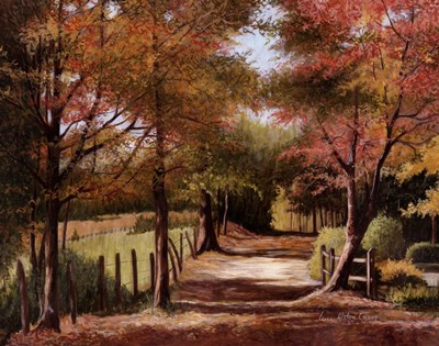 Autumn Country Road Poster by Lene Alston Casey for $37.50 CAD