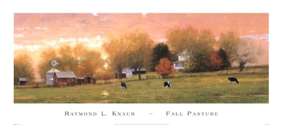 Fall Pasture Poster by Raymond Knaub for $51.25 CAD