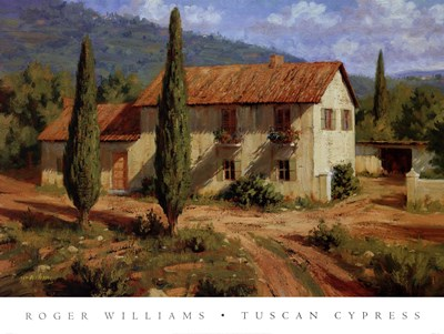 Tuscan Cypress Poster by Roger Williams for $70.00 CAD