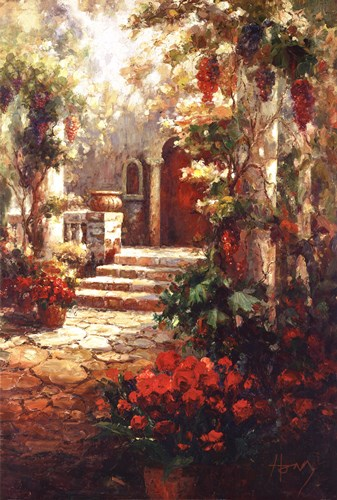 Courtyard Romance Poster by R. Hong for $67.50 CAD