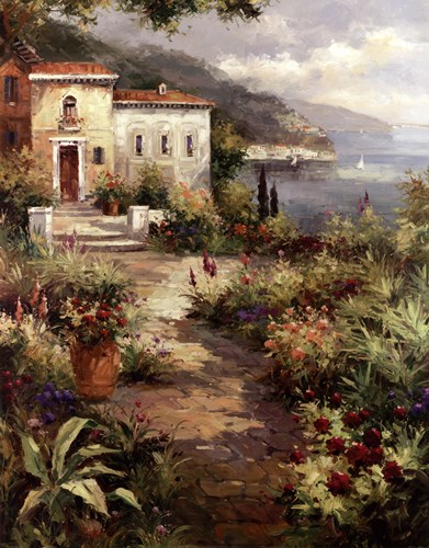 Villa's Garden Path Poster by Peter Bell for $33.75 CAD