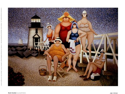 Beach Vacation Poster by Lowell Herrero for $10.00 CAD