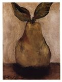 Golden Pear On Beige