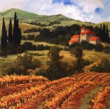 Tuscan Monastery Amidst Autumn