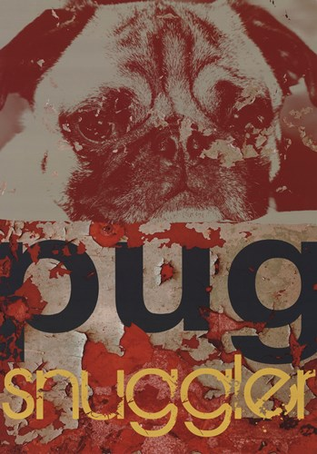 Pug Snuggler Poster by M.J. Lew for $21.25 CAD
