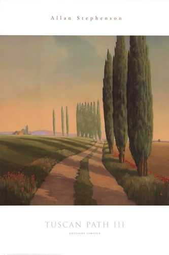 Tuscan Path III Poster by Allan Stephenson for $46.25 CAD